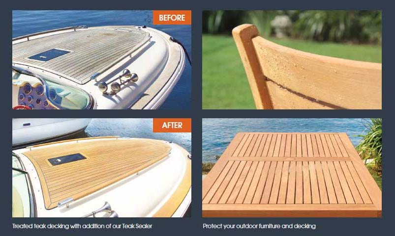Before and After Just Teak Application